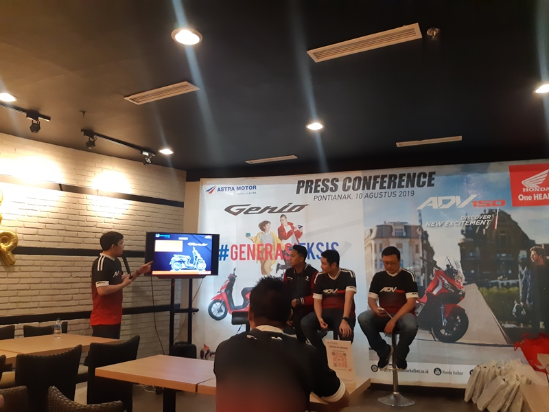 press conference Launching Honda Genio dan Honda ADV 150
